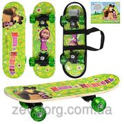 Скейтбордскейт детский мини Bambi Маша и медведь 43х13см
