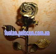 Кованые розы,  цветы,  Кованая роза,  Кована троянда опт розница.