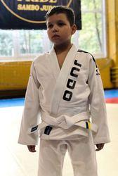 Кимоно детское для Дзюдо,  белое с поясом